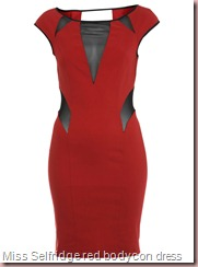 Miss Selfridge red bodycon dress