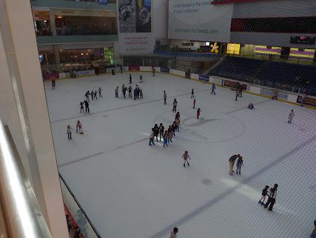 Obiective turistice Dubai: patinoar la Dubai Mall