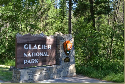 Glacier Entrance Sign
