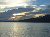 Gunung Klabat at dawn seen from the boat ride to Manado Tua (Dan Quinn, November 2012)
