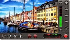 صورة لواجهة تطبيق FiLMiC Pro على جهاز أيفون