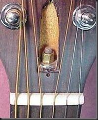 guitarra acustica clavijero cuerdas