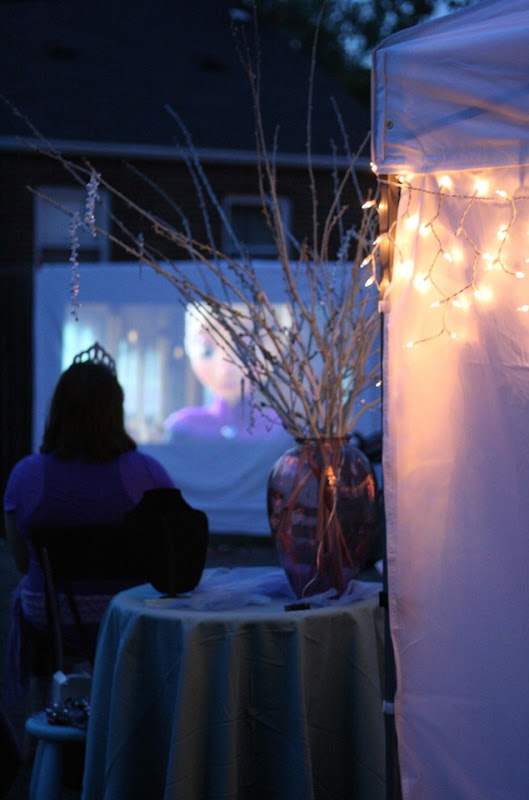 Frozen Birthday Party Outdoor Movie