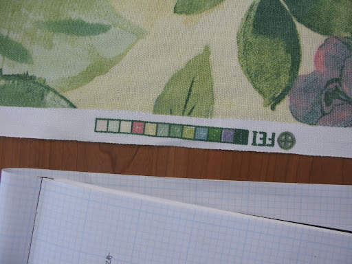 I love these color bars on fabric. It helped us when we were choosing colors for our accent items.
