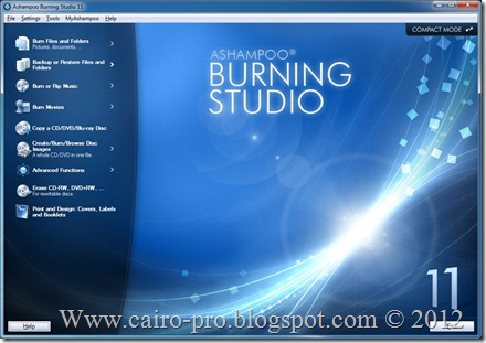 Ashampoo Burning Studio 11 v11.0.4.0 Final برنامج اشامبو لنسخ الاسطوانات