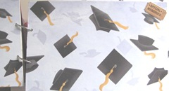 Katies graduation book double page hats