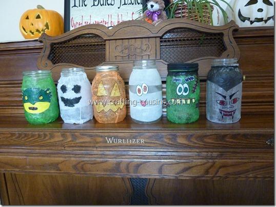 Halloween Luminaries from a Mason jar (18)