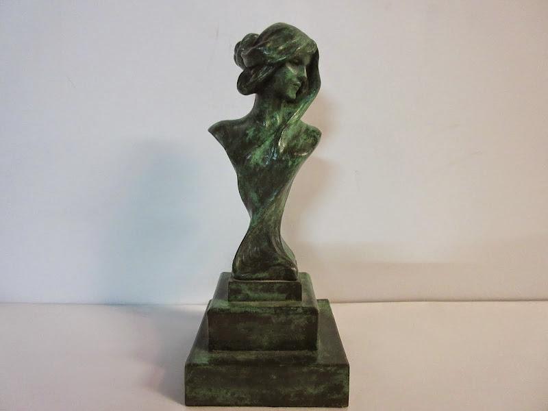 Gribe Inscribed Nouveau Sculpture