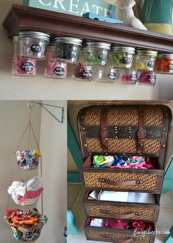 Craft Room Organization by Poofy Cheeks