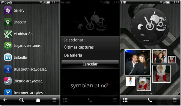 Widget de Galera de Symbian Belle FP1 para tu Nokia