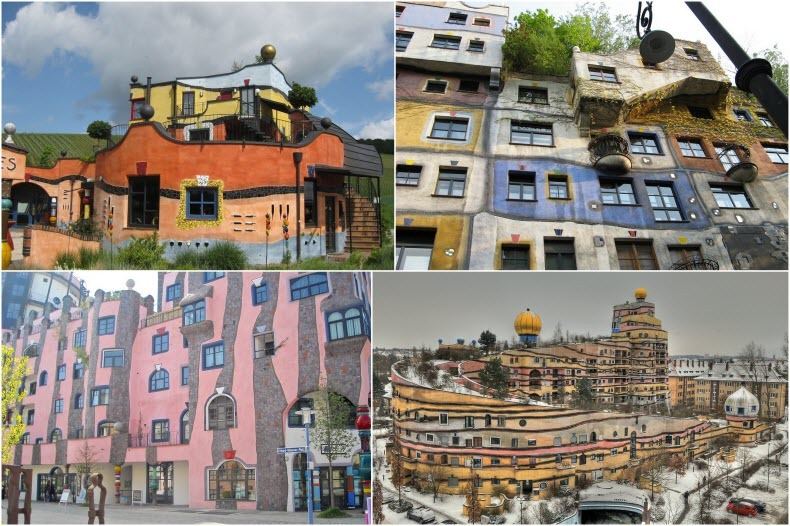 In The 1950s Hundertwasser Began Designing Architectural Projects These Designs Use Irregular Forms And Incorporate Natural Features Of Landscape