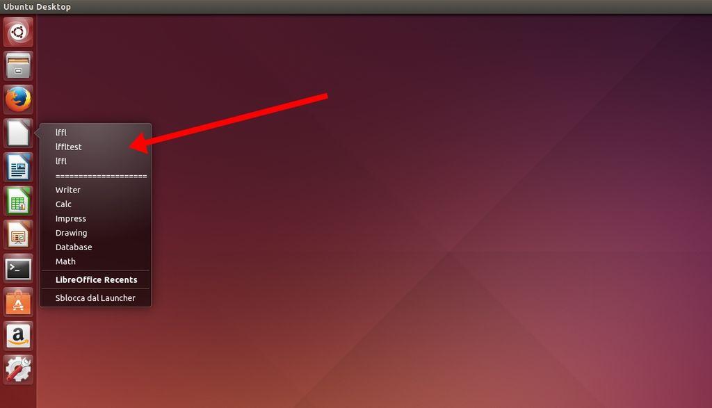 LibreOffice Unity Recents Files in Ubuntu
