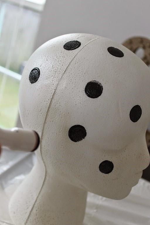 painting polka dots