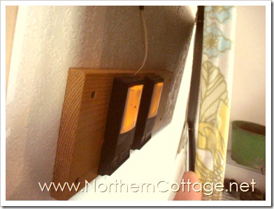 hidden garage door opener @northern cottage