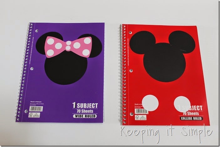 Disney themed notebooks (5)