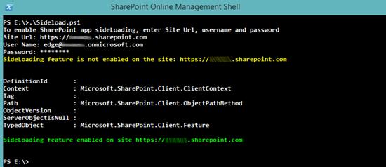enable-sideloading-sharepoint-online