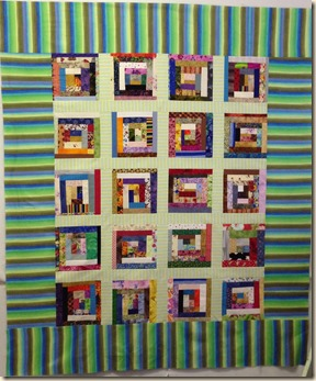 Log Cabin Charity Quilt