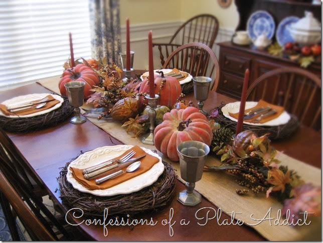 CONFESSIONS OF A PLATE ADDICT Fall Home Tour Dining Room
