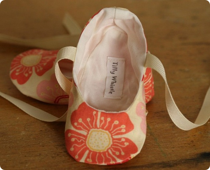 Coral Baby Booties