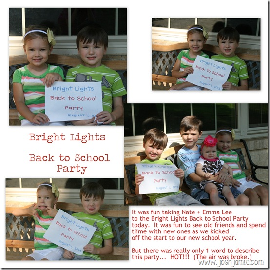 1 - Bright Lights Back to School Party