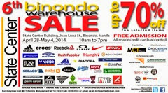 6th Binondo Warehouse Sale Web Banner