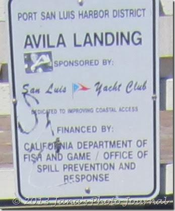 Avila Landing Sign