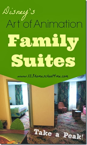 Disney's Art of Animation Family Suites Tour and Review