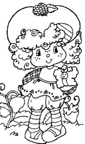 Desenho da Moranguinho para colorirem