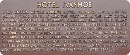 Hotel Ivan sign