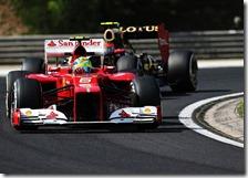 Massa nelle prove libere del gran premio d'Ungheria 2012