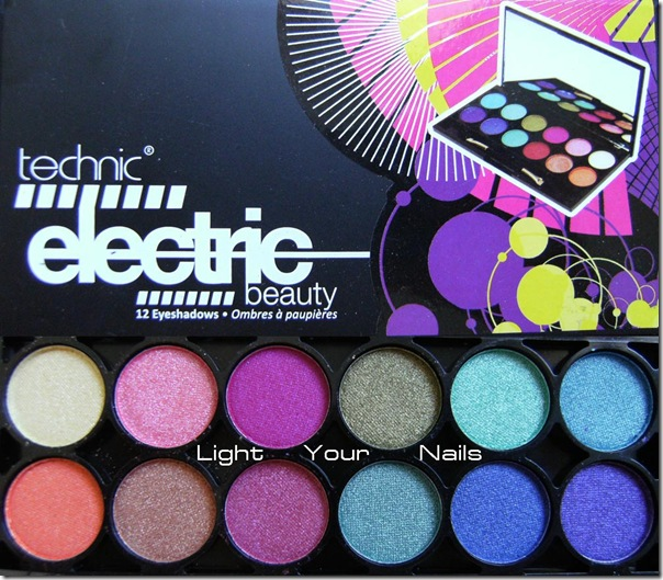 Technic Electric beauty eyeshadow palette