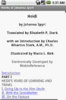 Screenshot of Works of Johanna Spyri