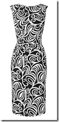 phase eight black and white dress