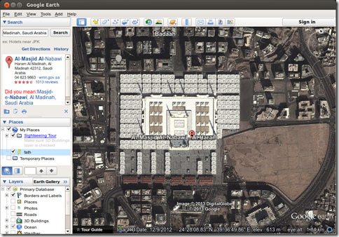 google earth Masjid nabawi