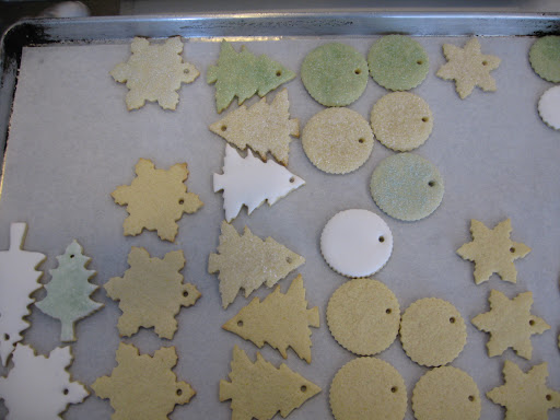 One of many trays full of cookies in various shapes and sizes. I did a variety of decorating combinations so we could pick and choose exactly what we liked and wanted to use.