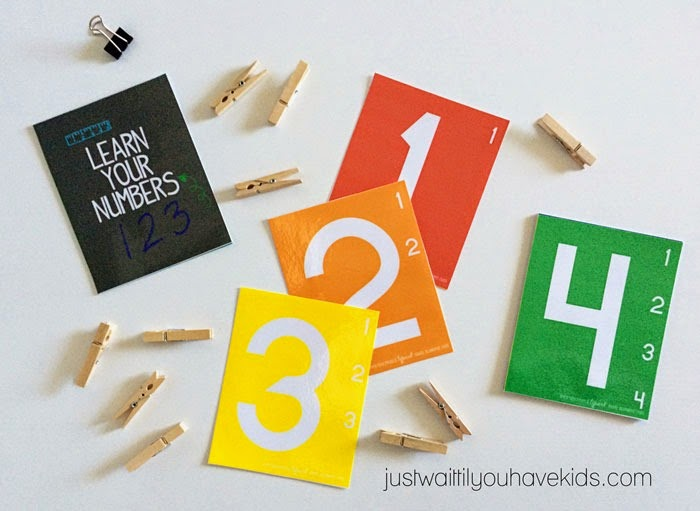 Just Wait til You have Kids | Learning Time: Teaching Number Recognition and Counting with Number Cards
