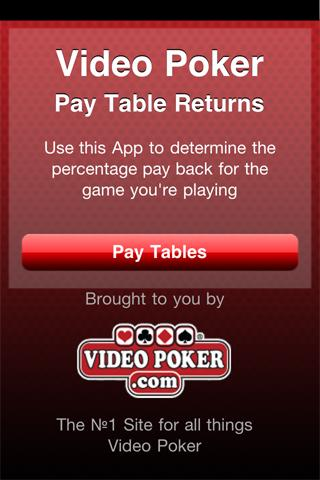 Video Poker PayTables