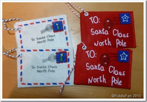 Letter to Santa envelope tag Poundland