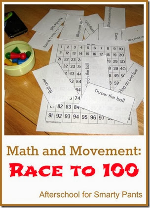 Race to 100 from Afterschool for Smarty Pants