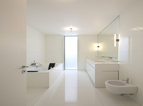 baño diseño blanco minimalista