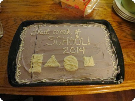 Making a Cake for the First Week of School