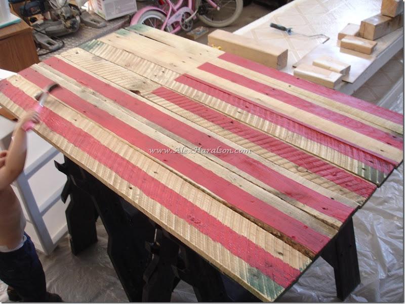 Pallet Wood American Flag4