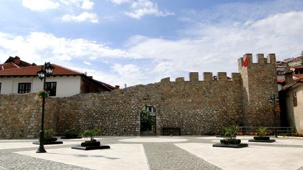 Antiga muralha de Ohrid