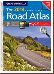 Road atlas cover from amazon