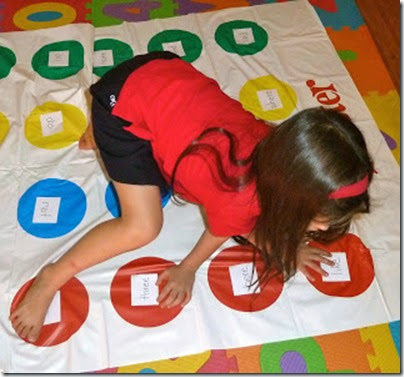 Sight Word Twister from Mom to 2 Posh Lil Divas