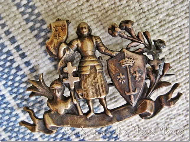 Vintage French Jeanne d'Arc pin