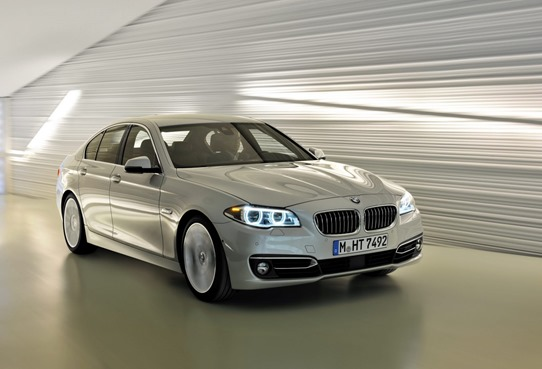 2014 BMW 5 series front and side