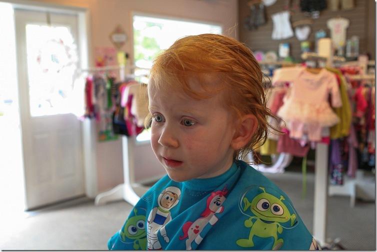 Sara's first haircut-6 blog