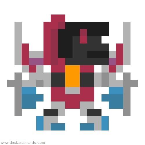 super herois e viloes em 8 bits transformers  (2)