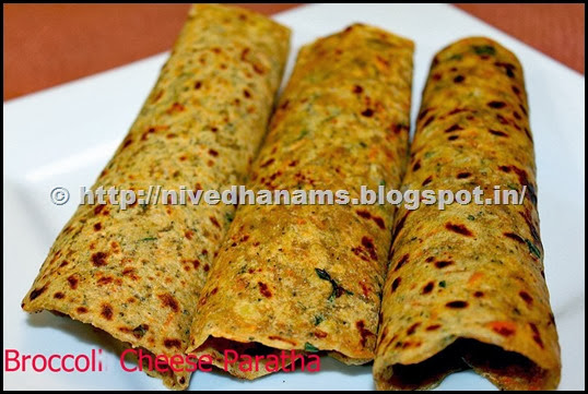 Brocolli Cheese Paratha - IMG_2560